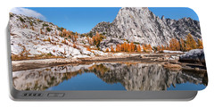 Prusik Peak Reflected In Gnome Tarn Portable Battery Charger