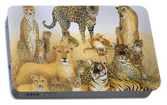The Big Cats Portable Battery Charger by Pat Scott