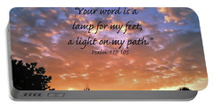 Portable Battery Charger featuring the photograph Psalm 119 105 by Kerri Farley