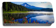 Portable Battery Charger featuring the photograph Psalm 150 With Lake Trillium by Lynn Hopwood