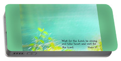 Psalm 27 Portable Battery Charger by Catherine Alfidi