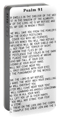 Psalm 91 #minimalism Portable Battery Charger