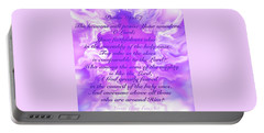 Psalm Eighty Nine Selected Verses Portable Battery Charger by Yvonne Blasy