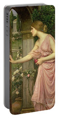 Psyche Entering Cupid's Garden Portable Battery Charger by John William Waterhouse