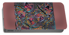 Psychedelic Dragons Portable Battery Charger by Megan Walsh