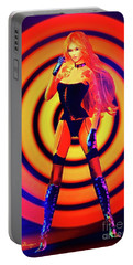 Psychedelic Hypnotic Pin-up Girl Portable Battery Charger