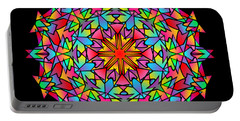 Psychedelic Porcupine Mandala Portable Battery Charger
