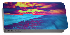 Psychedelic Sunset Portable Battery Charger