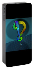 Psychedelic Interrobang Portable Battery Charger