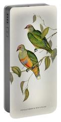 Ptilinopus Ewingii Portable Battery Charger by John Gould