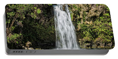 Portable Battery Charger featuring the photograph Pua'a Ka'a Falls by Jim Thompson