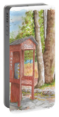 Public Phone In Mammoth Lakes, California Portable Battery Charger by Carlos G Groppa