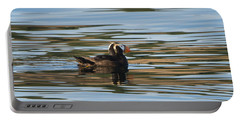 Puffin Reflected Portable Battery Charger by Mike Dawson