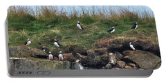 Puffins In Iceland Portable Battery Charger