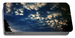 Puffy Storm Clouds Portable Battery Charger