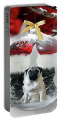 Pug And Santa Portable Battery Charger