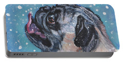 Pug In The Snow Portable Battery Charger