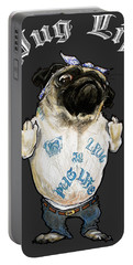 Pug Life Portable Battery Charger