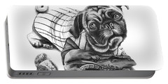 Pug Ruth  Portable Battery Charger by Peter Piatt