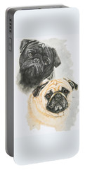 Pugs Portable Battery Charger by Barbara Keith