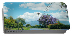 Pulehuiki Road Upcountry Kula Maui Hawaii Portable Battery Charger by Sharon Mau