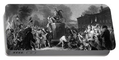 Pulling Down The Statue Of George IIi Portable Battery Charger