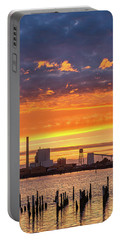 Pulp Mill Sunset Portable Battery Charger by Greg Nyquist