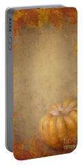 Pumpkin And Maple Leaves Portable Battery Charger