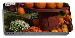 Pumpkin Display Portable Battery Charger