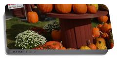 Pumpkin Display Portable Battery Charger