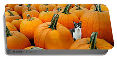 Pumpkin Patch Cat Portable Battery Charger