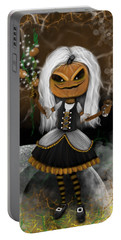 Pumpkin Spice Latte Monster Fantasy Art Portable Battery Charger