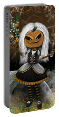 Pumpkin Spice Latte Monster Fantasy Art Portable Battery Charger