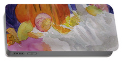 Portable Battery Charger featuring the painting Pumpkin Still Life by Beverley Harper Tinsley