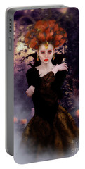 Portable Battery Charger featuring the digital art Pumpkin Witch by Shanina Conway