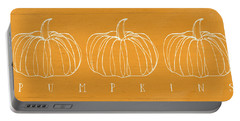 Pumpkins- Art By Linda Woods Portable Battery Charger