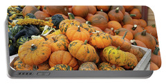 Portable Battery Charger featuring the photograph Pumpkins For Sale by Liza Eckardt