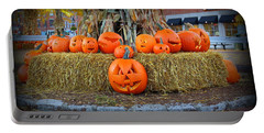 Pumpkins In Market Square Portable Battery Charger