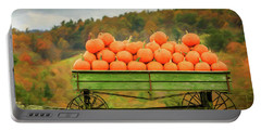 Pumpkins On A Wagon Portable Battery Charger