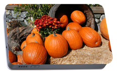 Portable Battery Charger featuring the mixed media Pumpkins- Photograph By Linda Woods by Linda Woods