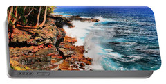 Portable Battery Charger featuring the photograph Puna Coast Hawaii by DJ Florek