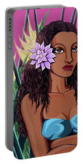 Punaluu Girl Portable Battery Charger by Tara Hutton