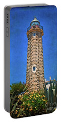 Portable Battery Charger featuring the photograph Punto Doncela Lighthouse by Mary Machare