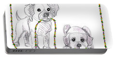 Puppies Greeting Card Portable Battery Charger
