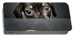 Puppy Longing For A Treat Portable Battery Charger