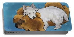 Puppy Love Portable Battery Charger by Debra Baldwin