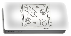 Portable Battery Charger featuring the drawing Puppy Love by Robbie Masso