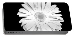 Pure White Gerber Daisy Portable Battery Charger