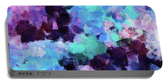 Portable Battery Charger featuring the painting Purple And Blue Abstract Art by Ayse Deniz