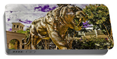 Purple And Gold Portable Battery Charger by Scott Pellegrin